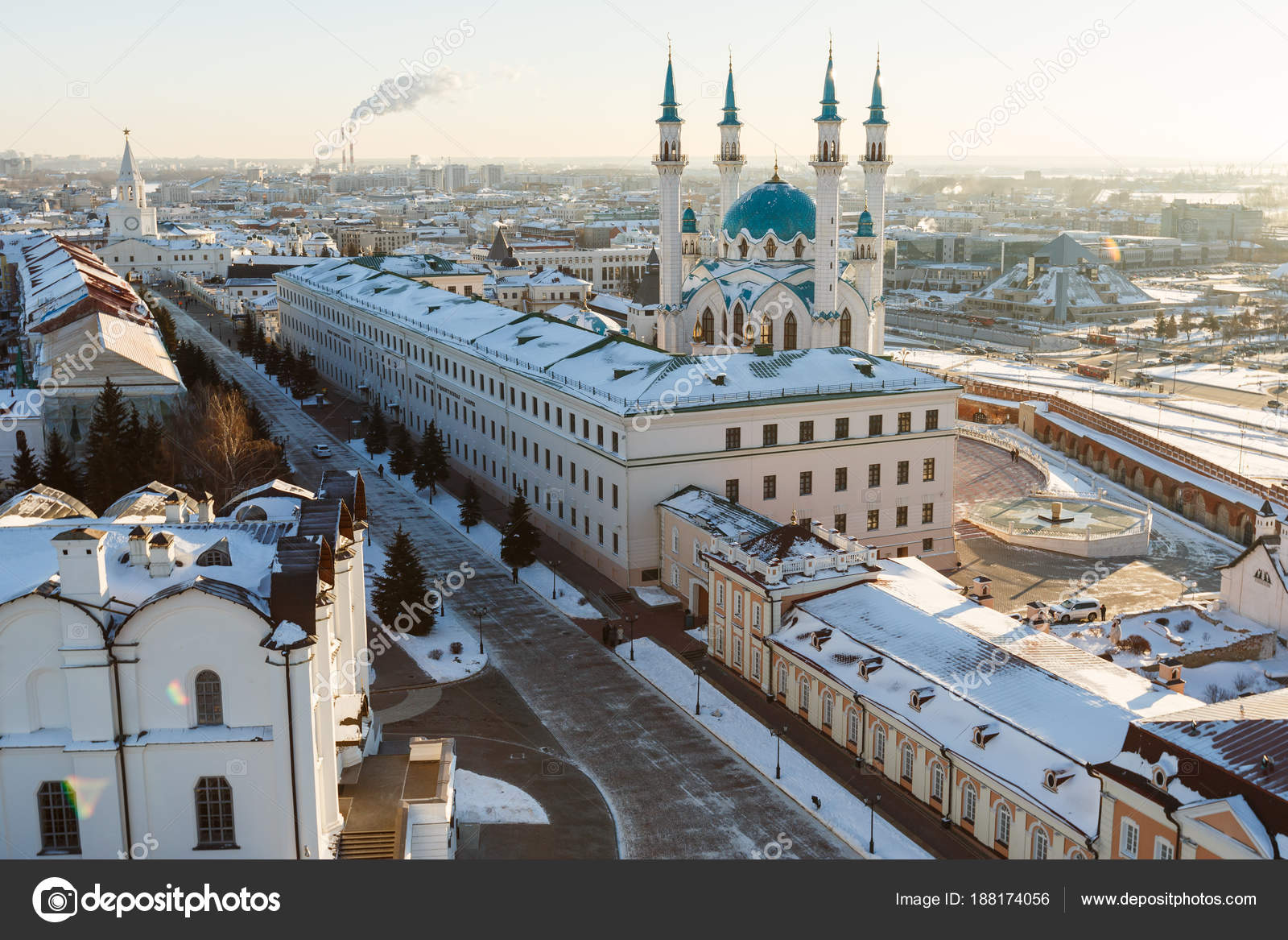 kul sharif mosque. kazan city, — stock photo © alexsafronov #188174056