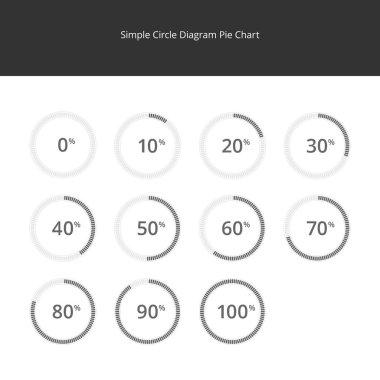 Infographics - Circle Diagram Set, Pie Chart