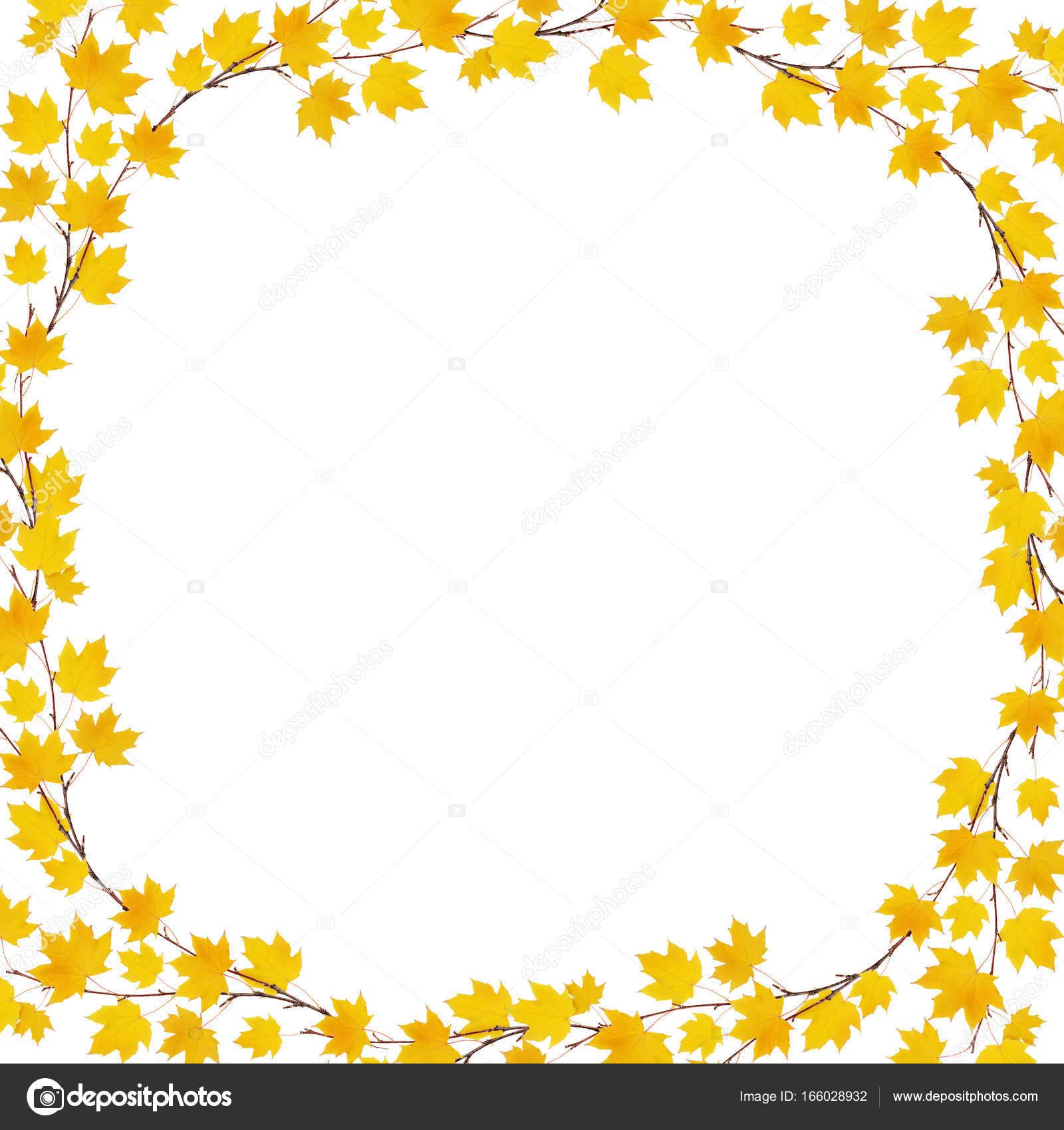hojas de otoño Arce marco — Foto de stock © ksushsh #166028932