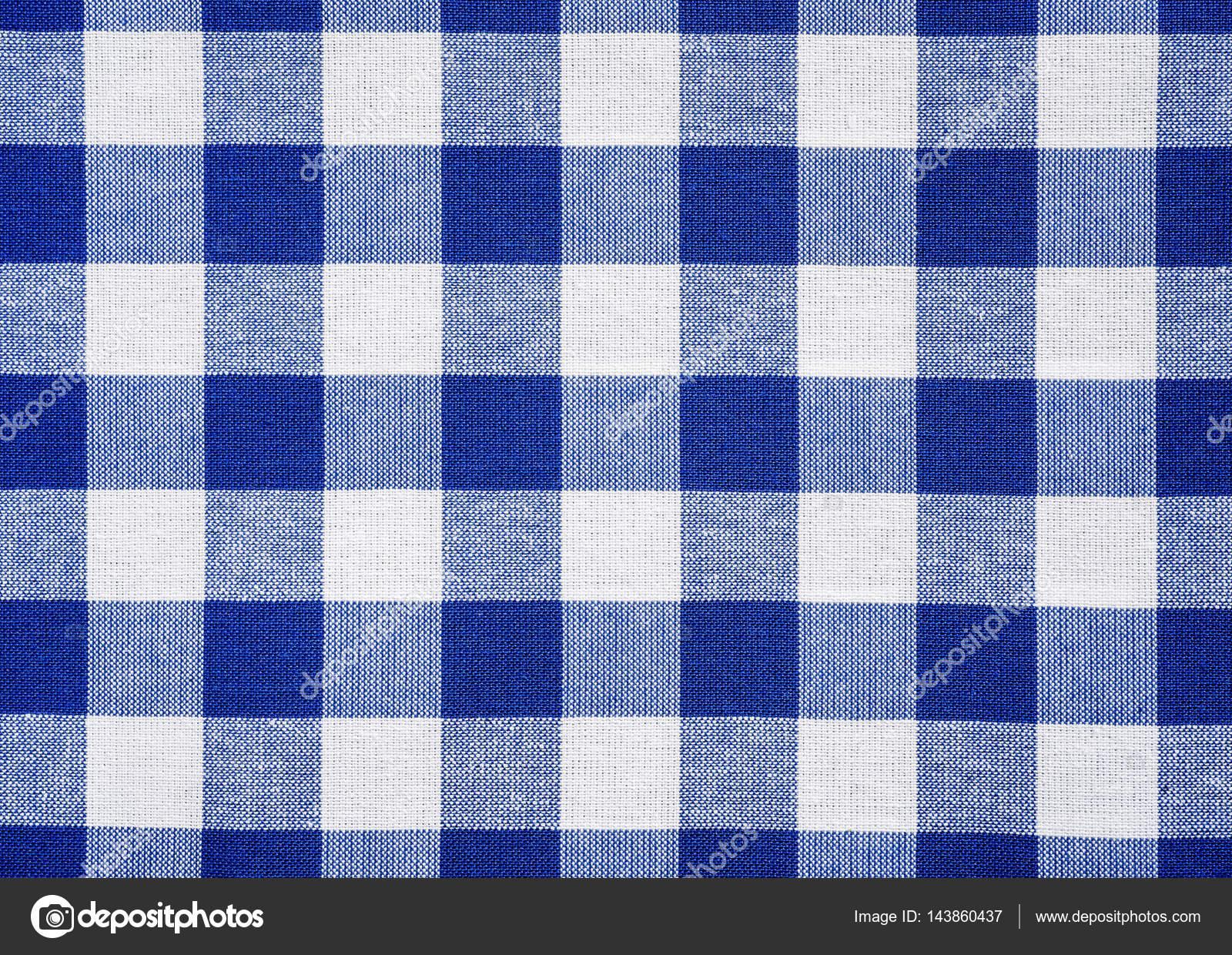 Blue Table Cloth Texture U2014 Stock Photo
