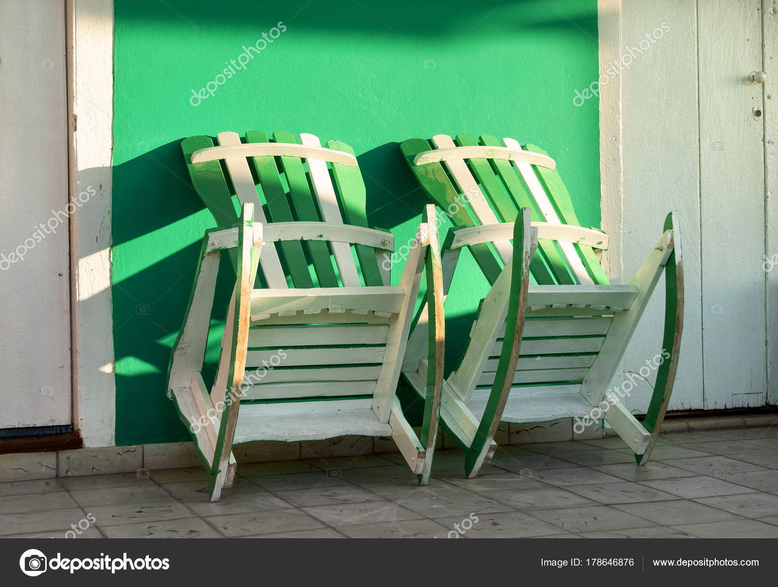 Two Rocking Chair In A House Of Vinales,Cuba U2014 Stock Photo