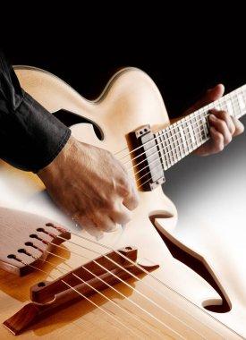 guitarist playing jazz guitar