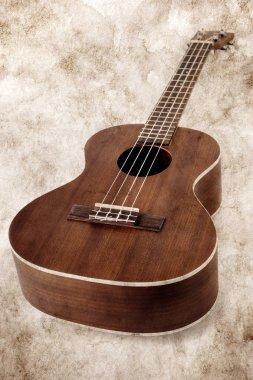 tenor ukulele aged vinatge image