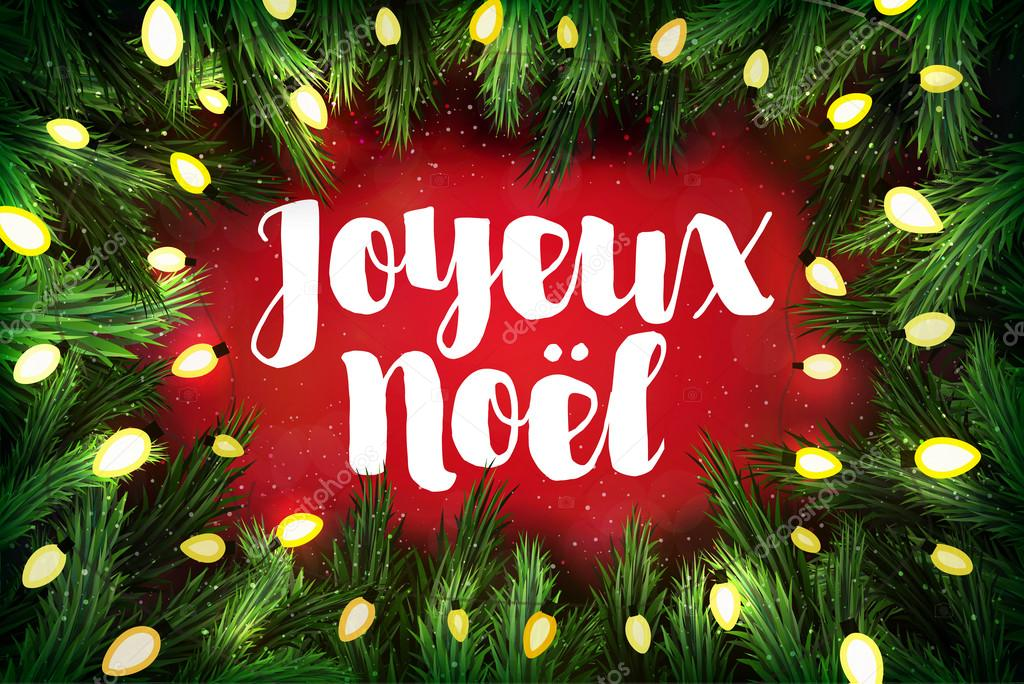 Joyeux noel french for merry christmas christmas greeting card joyeux noel french for merry christmas christmas greeting card stock vector m4hsunfo