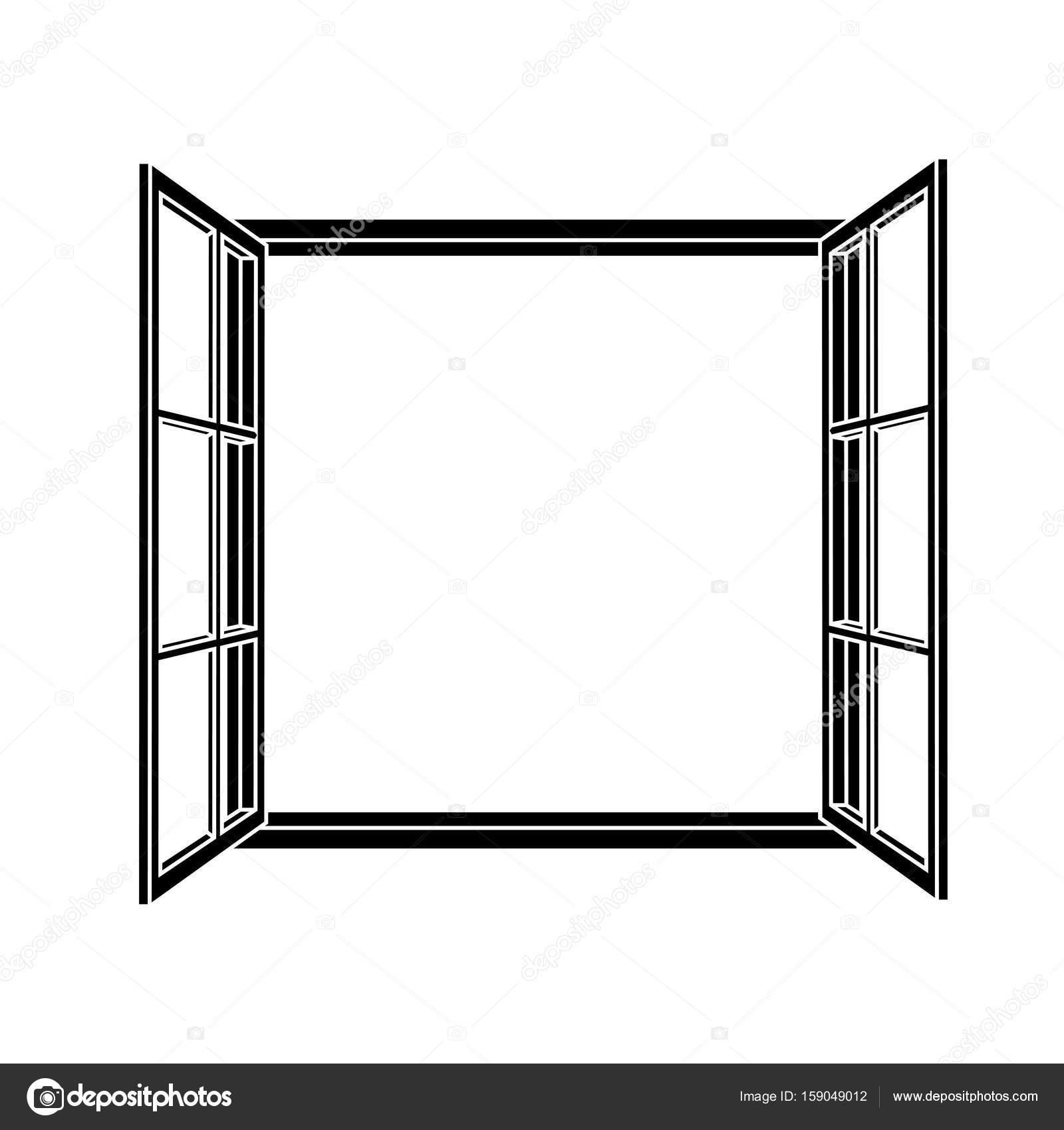 Fenster-Rahmen-Symbol — Stockvektor © laiaiksoon #159049012