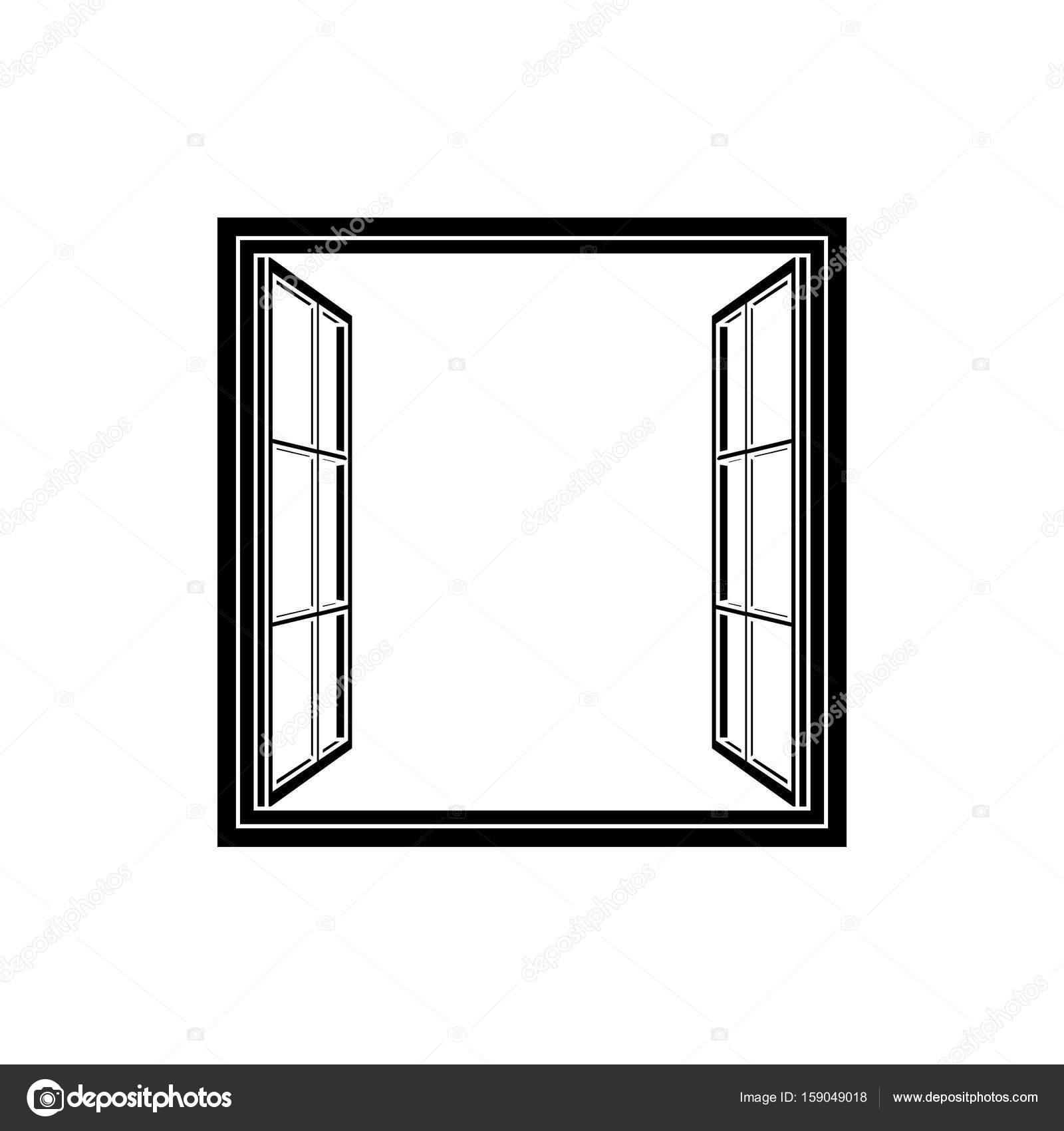 Fenster-Rahmen-Symbol — Stockvektor © laiaiksoon #159049018