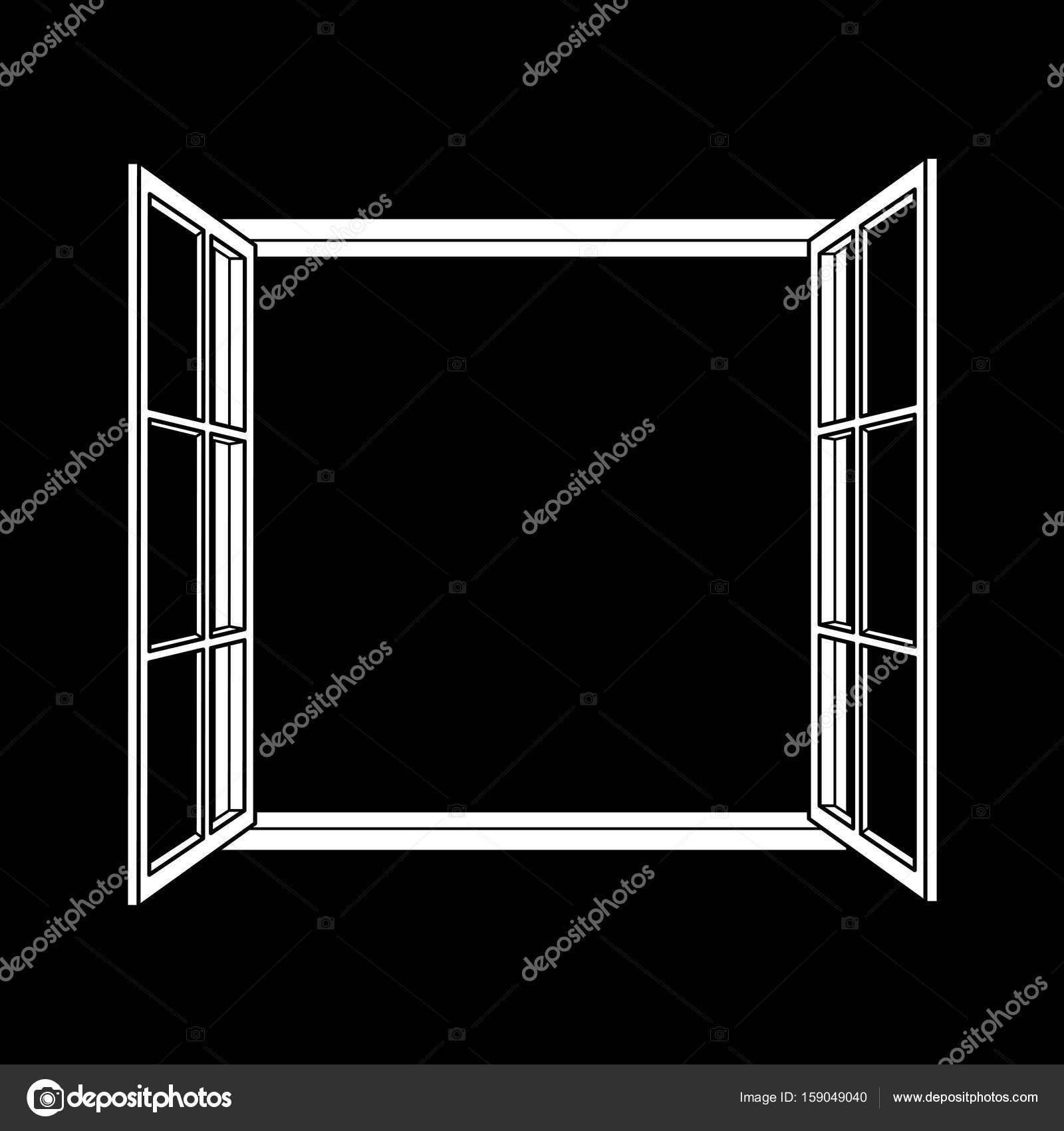Fenster-Rahmen-Symbol — Stockvektor © laiaiksoon #159049040