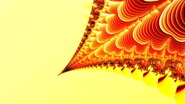 Yellow Red fractal sequence patterns 3D.