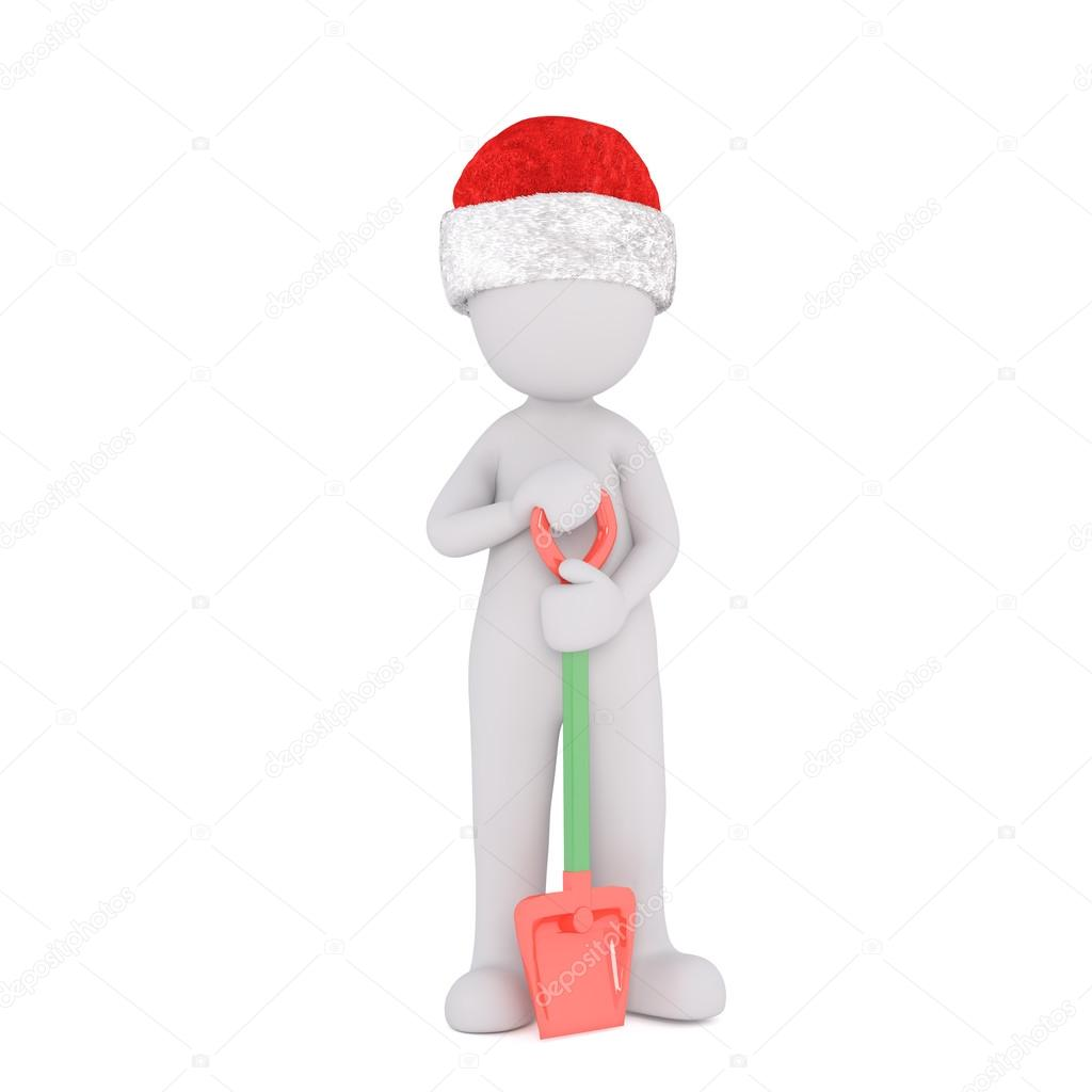 f5d4785e7694a Single 3D rendered figure in red hat — Stock Photo © 3DAgentur ...