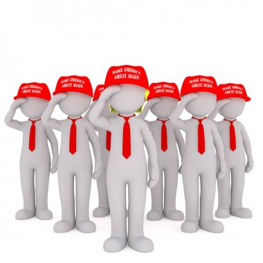 Army of Donald Trump supporters