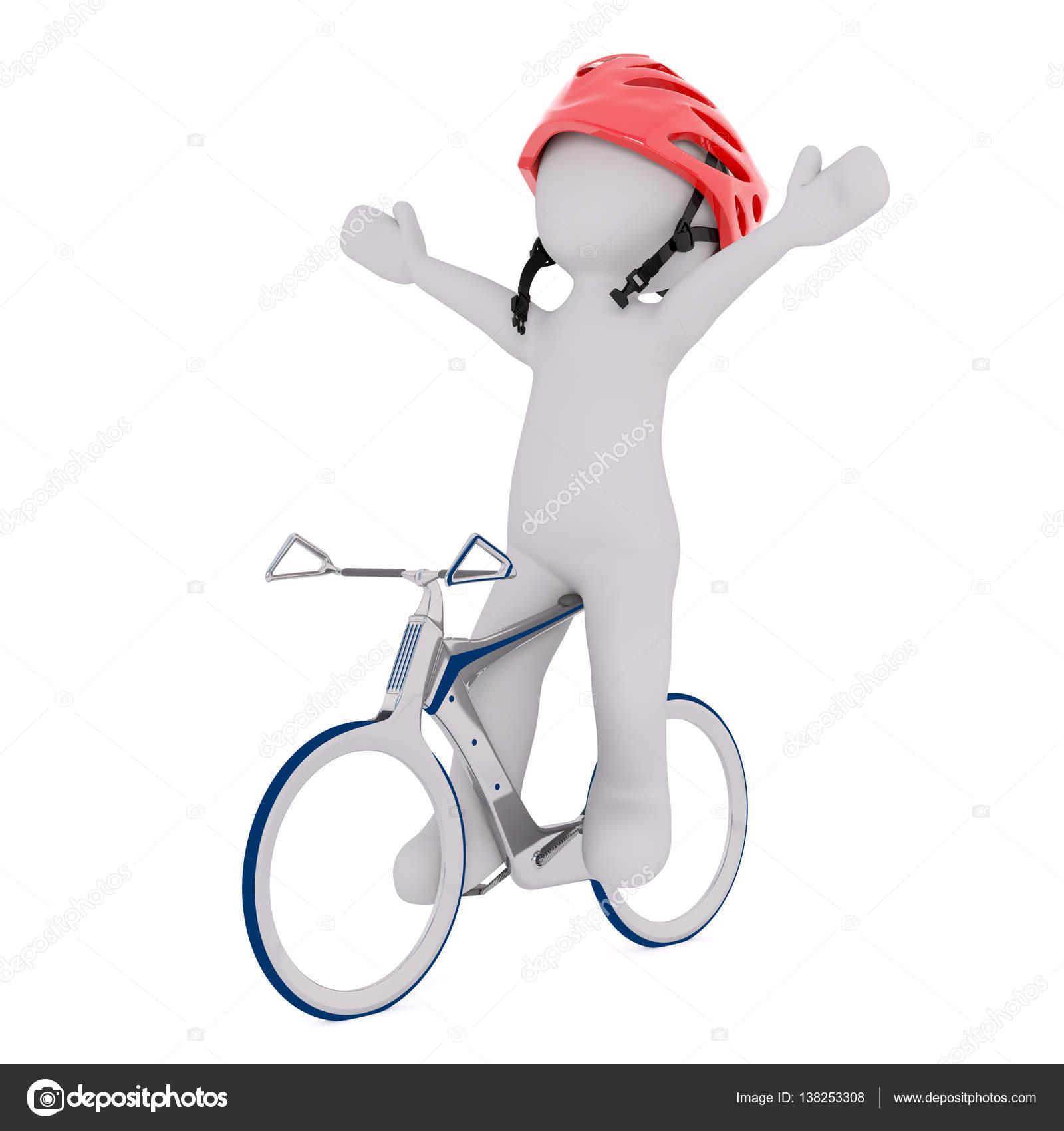 Dessin Animé Rider Célébrer Le Vélo De Course Photographie