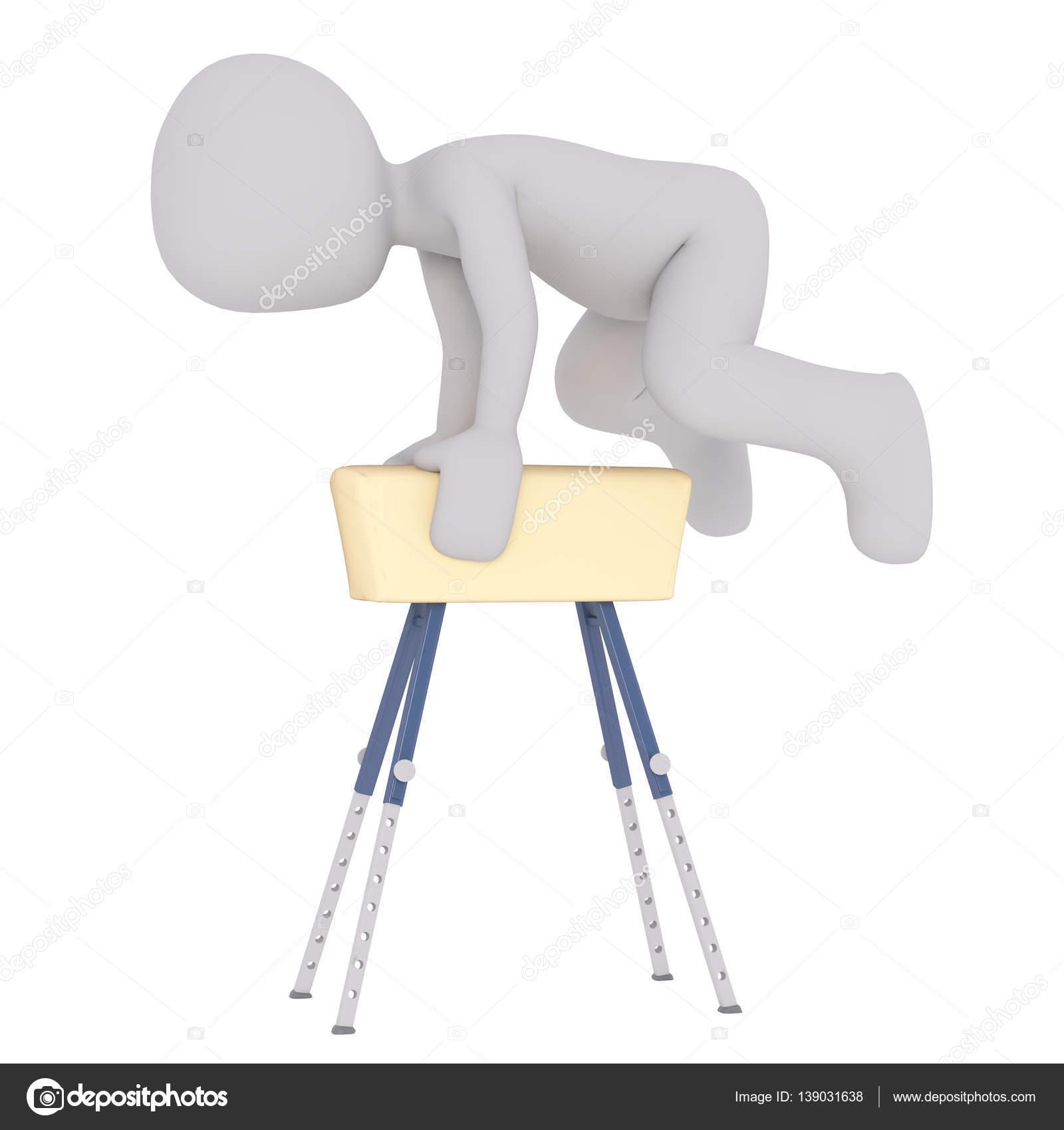 Kresleny Gymnastika Soutezit V Turnaji Horse Trezoru Stock