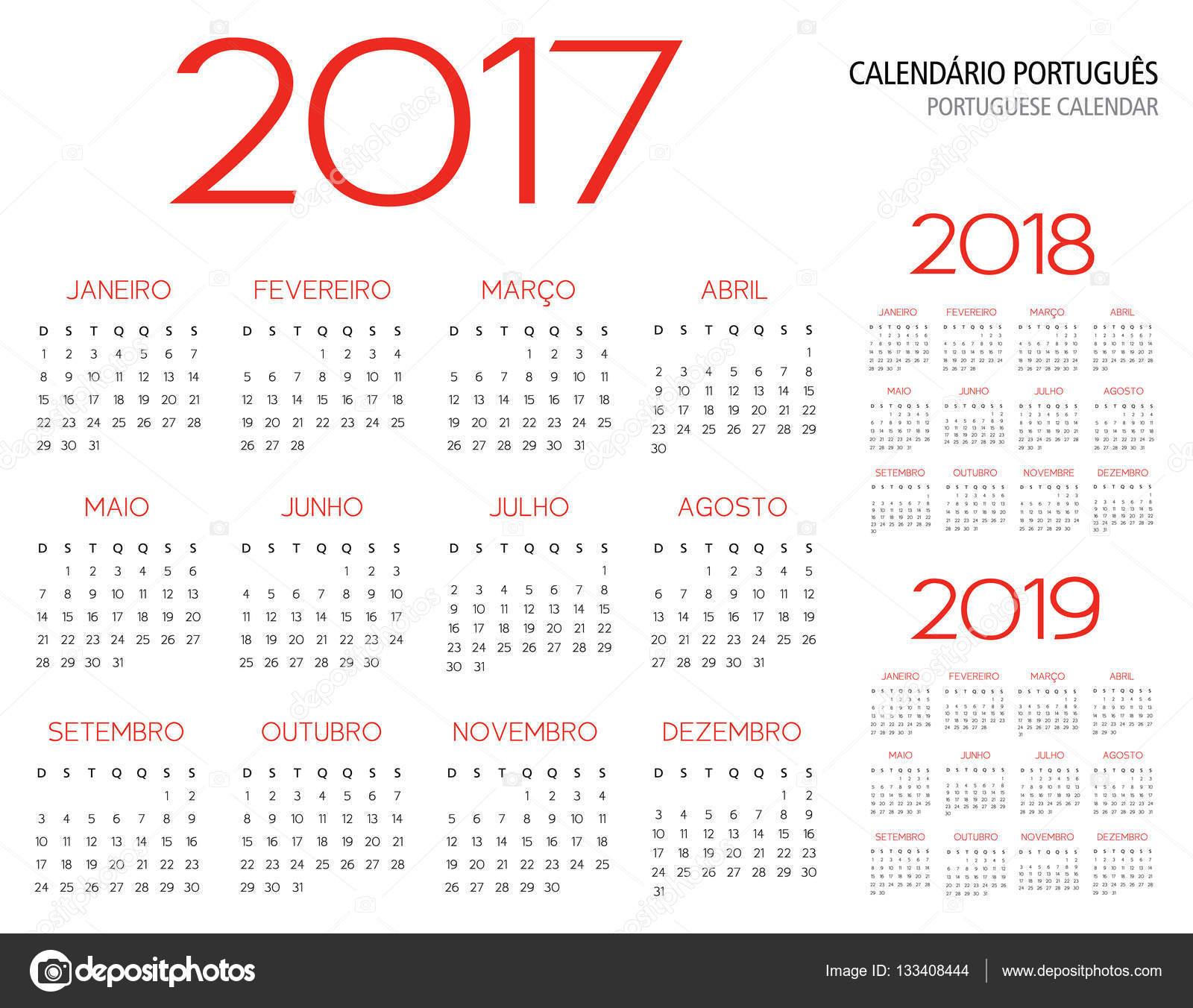 2017 2018 2019 Ford Price: Grade Portuguesa Calendário 2017 2018 2019