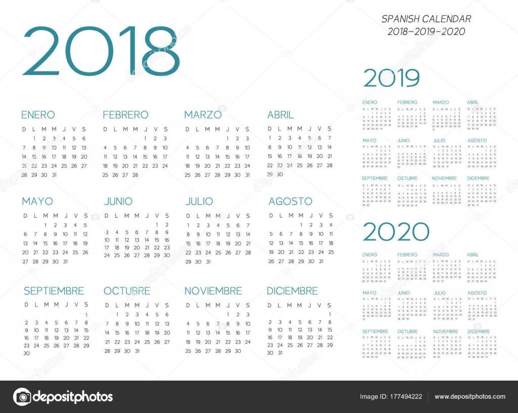 Calendario Agosto 2020 Para Imprimir Gratis.Calendarios En Blanco Y Negro Para Imprimir Vector De