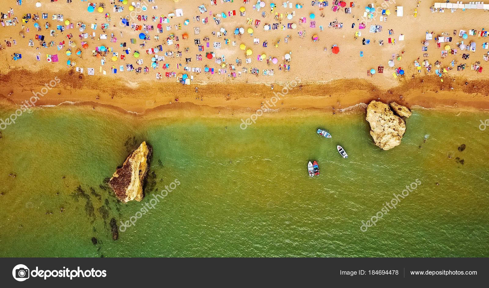 Aerial Summer Top View Flying Drone People Crowd Having Fun Stock Photo