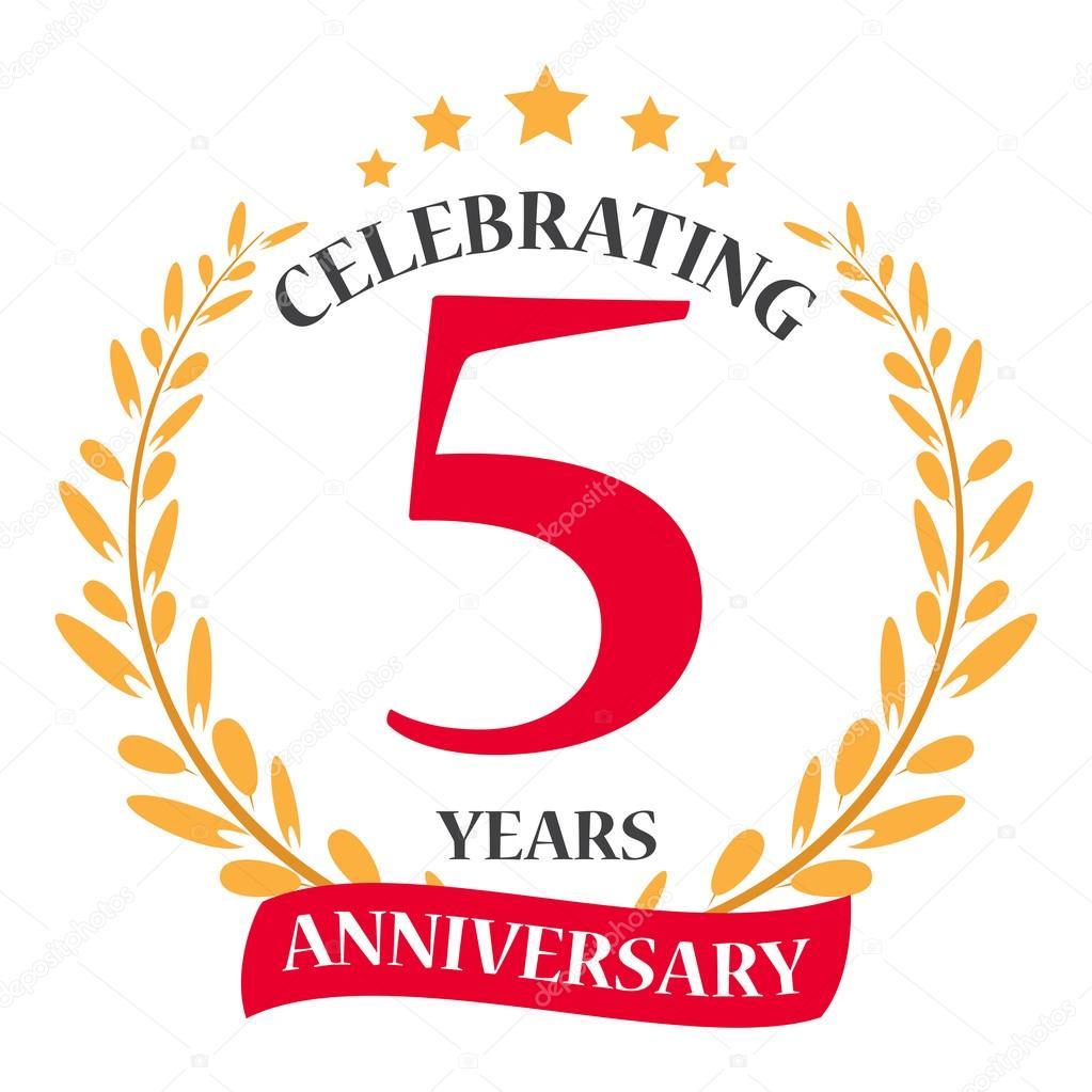 Happy anniversary celebration icon stock vector bejotrus vector illustration of 5 years happy anniversary celebration design icon vector by bejotrus biocorpaavc Choice Image