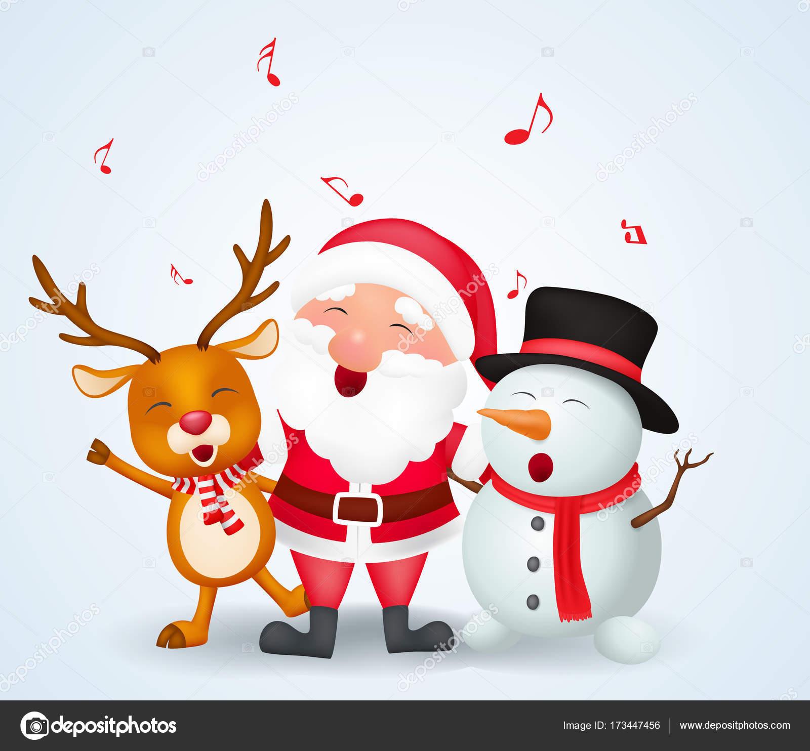 Immagini Babbo Natale Con Renne.Illustrazione Buon Natale Con Renna Prioritg Bassa Vettore