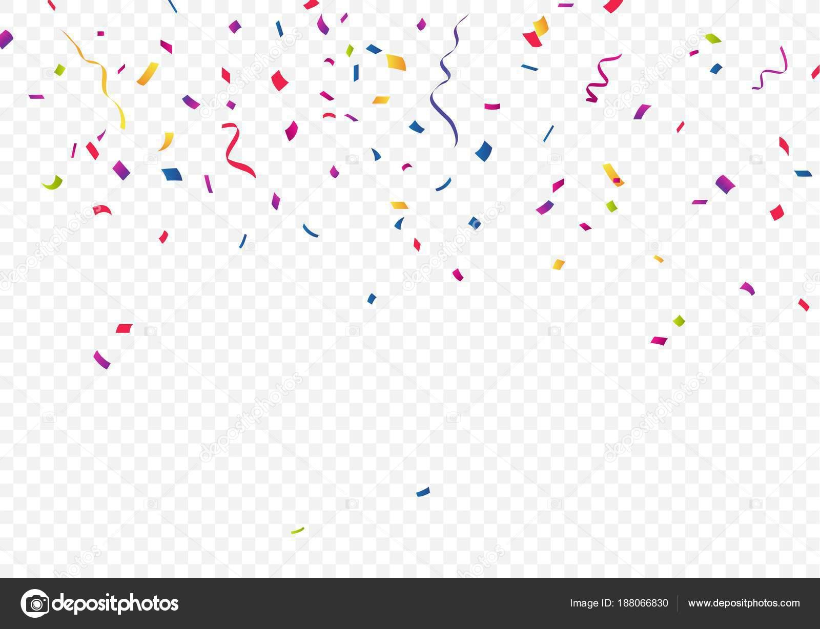 colourful confetti transparent background stock vector bejotrus