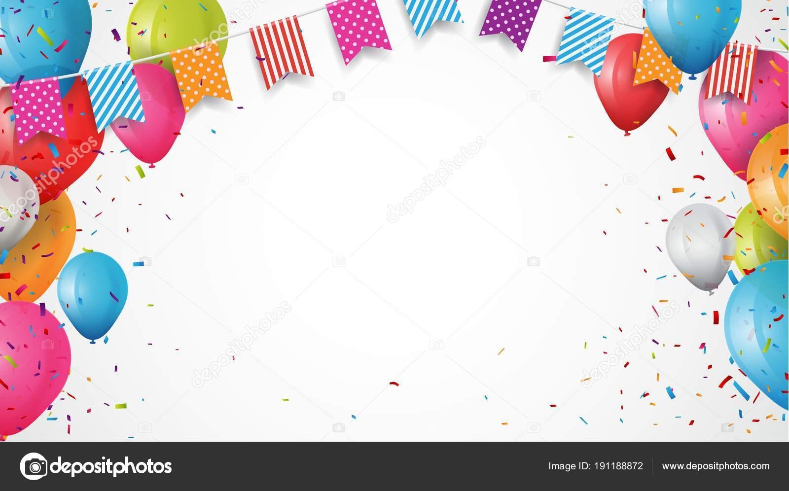 ilustracin vector colorido fondo tarjeta cumpleaos marco hecho coloridas banderas archivo imgenes vectoriales