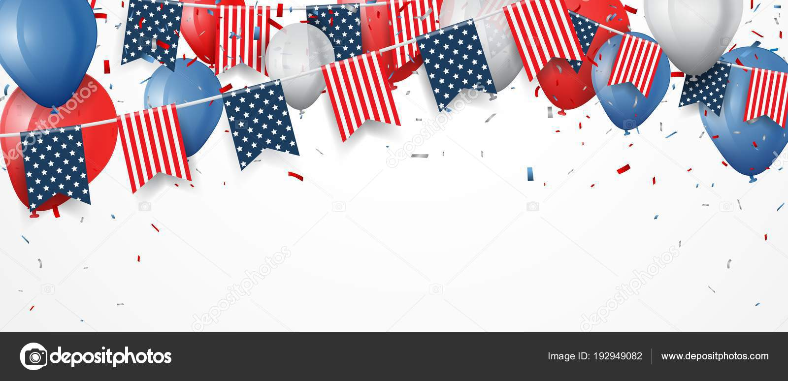 vector template frags ribbons balloons fourth july
