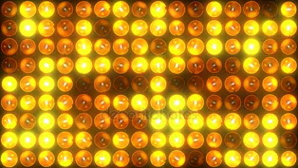 A circle of lighting fixtures looped seamless glow of halogen lamps Use for  festive backgrounds without interruption and pause Computer animation 4K  prores  codec