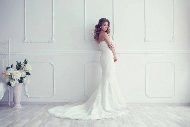bride in antique interior