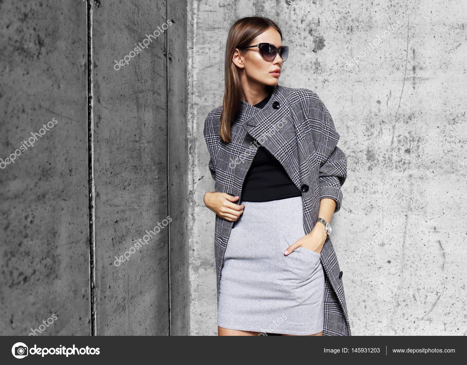 Gris Abrigo Mujer Moda Abrigo Gris Mujer Mujer Moda Moda wSq8Z
