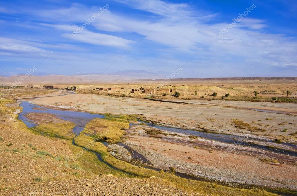 river in desert, Morocco