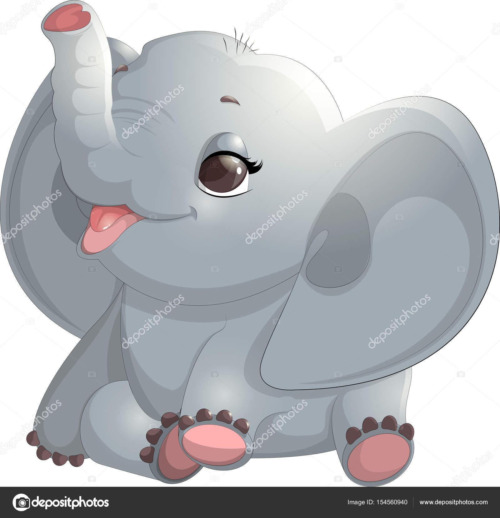 Fonkelnieuw Schönen niedlichen Elefanten — Stockvektor © andryuha19811 #154560940 PC-45