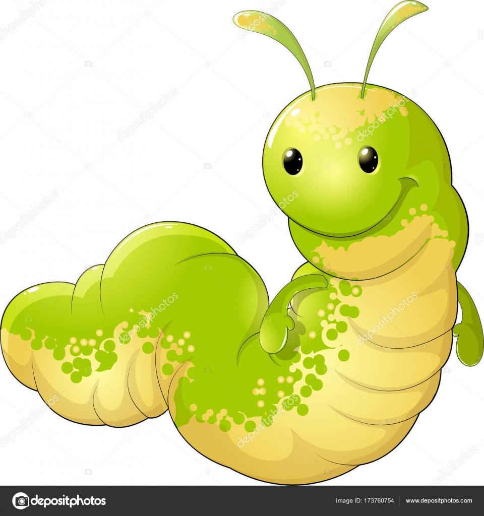 Sevimli Böcek Tırtıl Stok Vektör Andryuha19811 173760754
