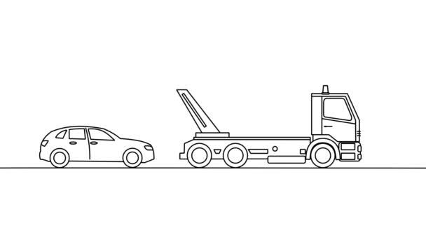 Odtahovka vyzvednutí vozidla, na bílém pozadí