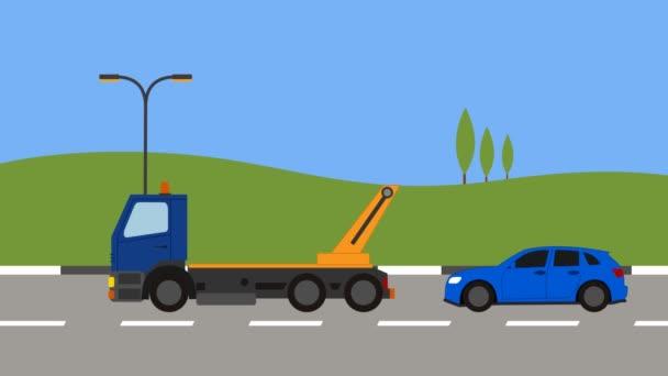 Odtahovka vyzvednutí auta ve městě