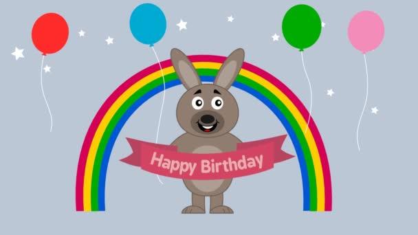 králík na oslavu narozenin - animace