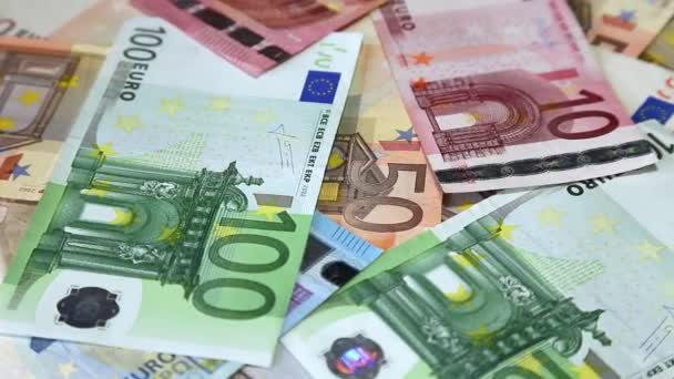 European banknotes euro on rotating surface background