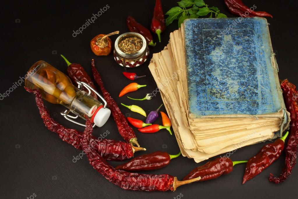 Cookbook and chillies recipe for spicy food mexican cuisine food cookbook and chillies recipe for spicy food mexican cuisine food preparation according to the old recipe book grandmas recipe book forumfinder Choice Image