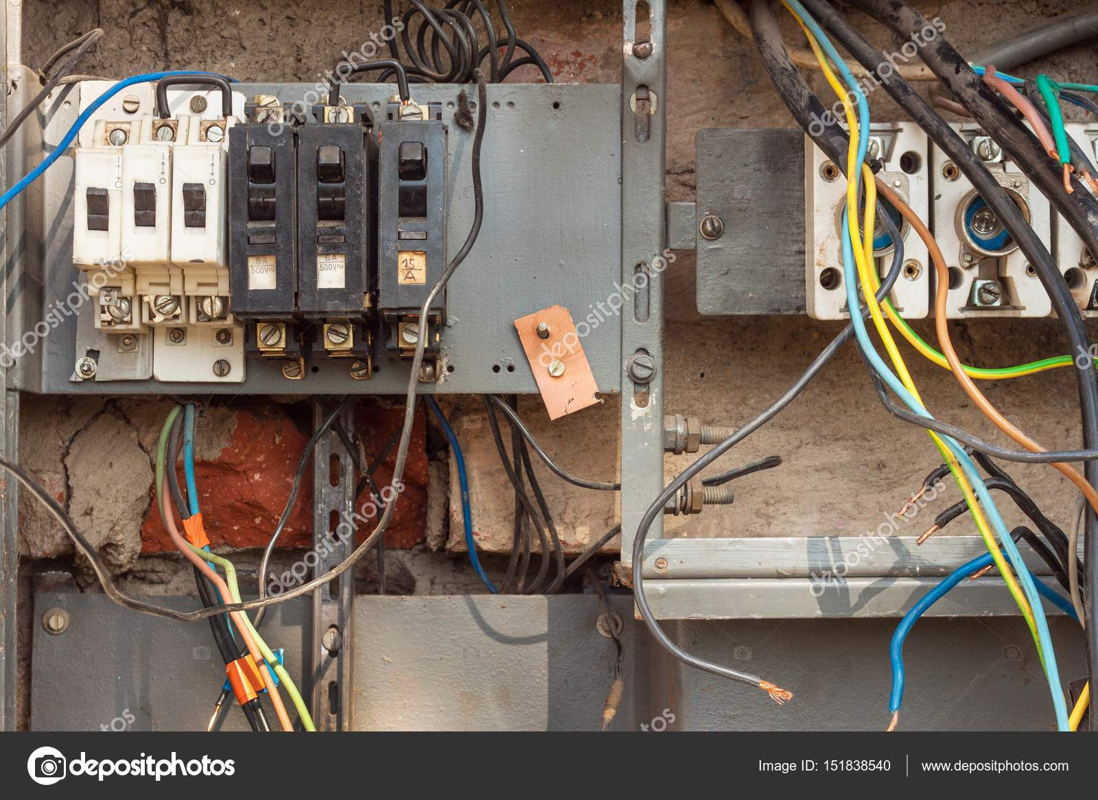 Repair Of Electricity Distribution In An Old House Stock Photo. Repair Of Electricity Distribution In An Old House Stock Photo. Wiring. This Old House Electrical Wiring At Scoala.co