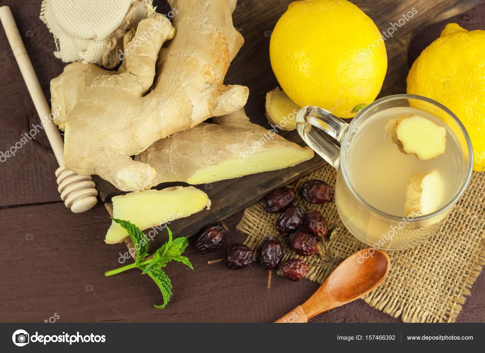 förkylning ingefära citron honung
