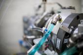 Experimentální stanice ve vědeckém experimentálním laboratorním cyklotronu