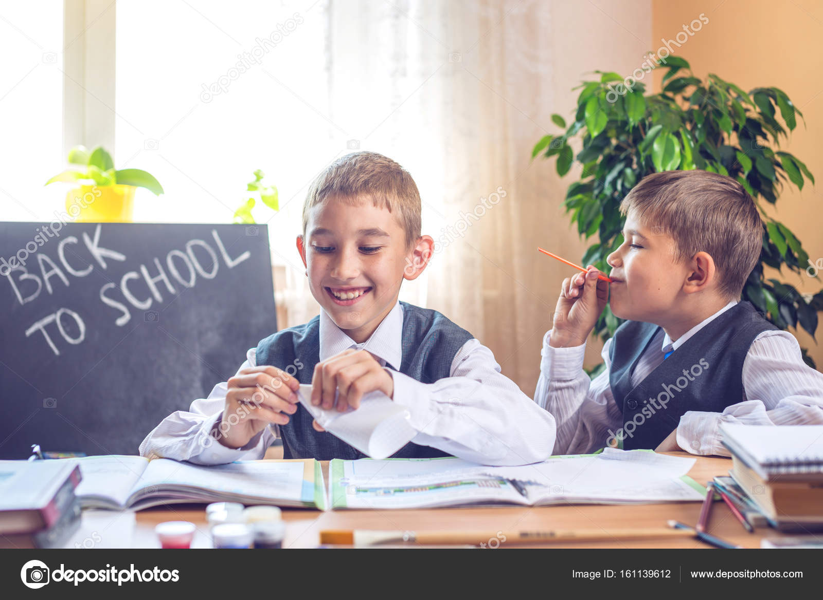 Getting naughty class schoolboys after