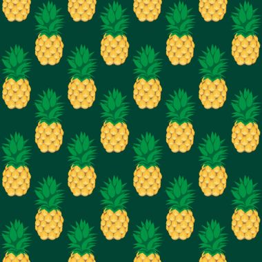 pineapple fruit contour abstract seamless pattern on bottle green background. Available in high-resolution jpeg in several sizes & editable eps file, can be used for wallpaper, pattern, web, blog, surface, textures, graphic & printing