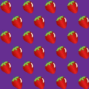 strawberry fruit contour abstract seamless pattern on purple background. Available in high-resolution jpeg in several sizes & editable eps file, can be used for wallpaper, pattern, web, blog, surface, textures, graphic & printing