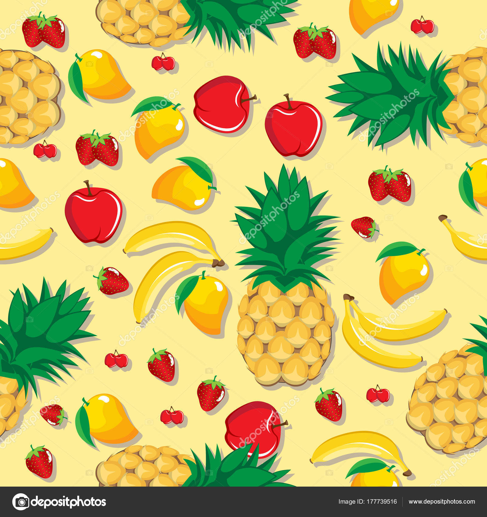 Best Wallpaper Macbook Pineapple - depositphotos_177739516-stock-illustration-mango-pineapple-apple-strawberry-banana  2018_782213.jpg