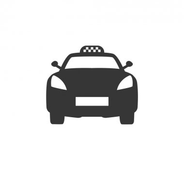 Taxi icon. Taxi service. Vector illustration.