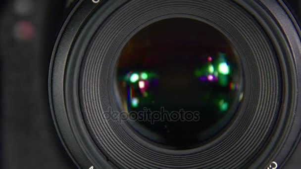 Závěrka fotoaparátu close-up