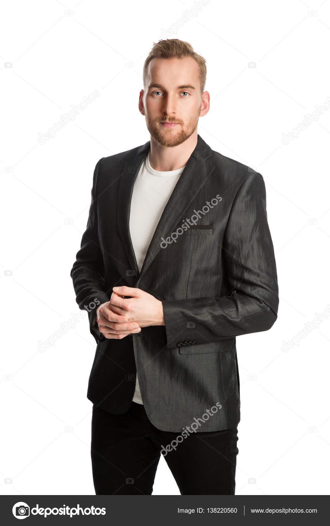 biondo sorridente in sportiva giacca Uomo zXwqq
