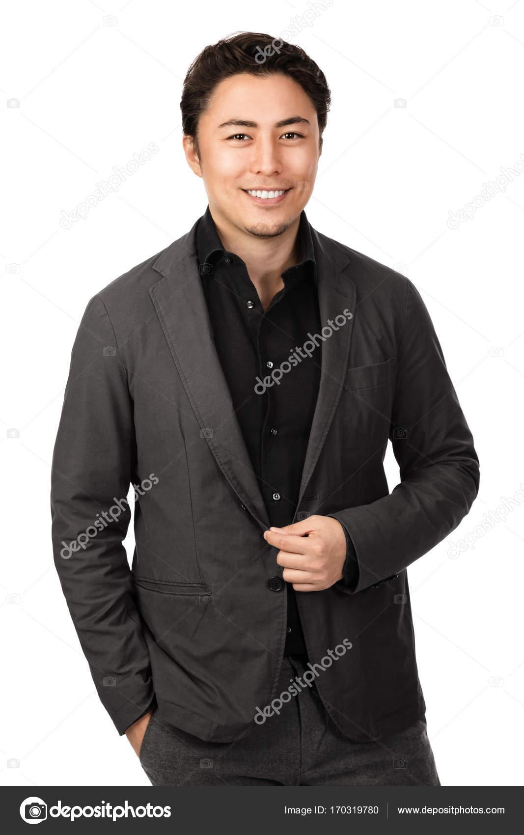 Gut Aussehend Geschäftsmann Im Grauen Anzug Stockfoto Robbie