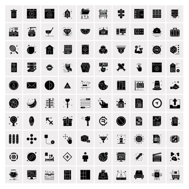 Set of 100 Universal Solid Icons