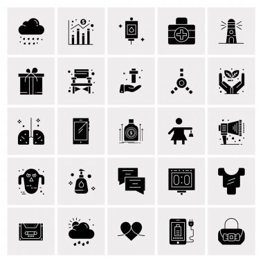 25 Universal Business Icons Vector. Creative Icon Illustration to use in web and Mobile Related project.