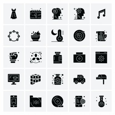 Set of 25 Universal Business Icons Vector