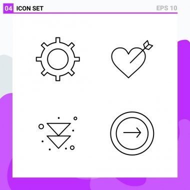 set of universal creative icons, vector Illustration